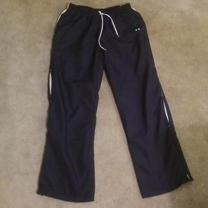 Under armour navy track pants size medium